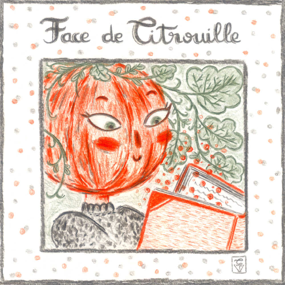 illustration face de citrouille